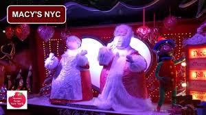 Macy S Christmas Decorations Macy U0027s Christmas Windows And Holiday Display Nyc 2016 Youtube