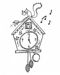 clock coloring page diaet me