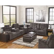 Rocking Reclining Loveseat With Console Reclining Sectional 7 Pc With Rocker Recliner Rug And Lamp Set