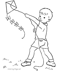 kite color pages kids coloring