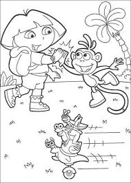 dora boots fiesta trio coloring animal coloring sheets