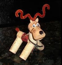 reindeer ornaments made out of wine corks
