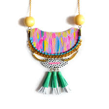 jewelry statement necklace images Wood and brass statement necklace geometric necklace tribal cresc jpg