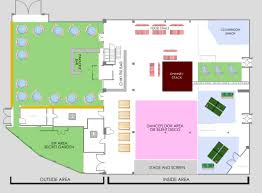 city summer house floorplan venue layout london