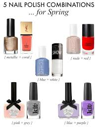 Blue And Red Color Combination 5 Spring Nail Polish Combinations Sonia Styling