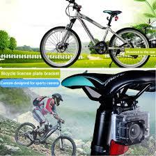 siege pour velo aluminium alloy bike bicycle seat cushion mount for gopro 6 5