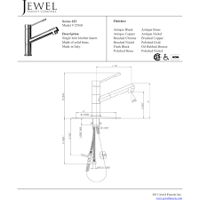 jewel 25568 55 j25 kitchen series antique copper one handle