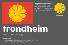 Flag Of Norway Meaning Of The Flag Of Trondheim Municipality Of Norway
