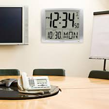 Digital Atomic Desk Clock La Crosse Technology 20 In Extra Large Digital Atomic Wall Clock