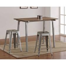 industrial bar table and stools industrial bar pub tables for less overstock