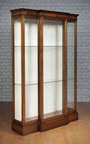 antique display cabinets with glass doors antique display cabinet mahogany glass doors sides home or shop