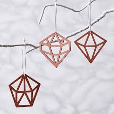 geometric copper decorations by