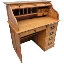 Roll Top Desk Oak Solid Oak Roll Top Desk Wayfair