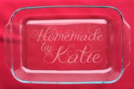 personalized serving dish personalized 3 qt casserole dishes etched glass casserole