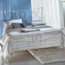 silver bed ciacci 1011 brigitte silver leaf bed italian designer metal beds