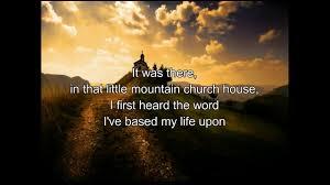 Church House Ricky Skaggs Little Mountain Church House Lyrics Youtube