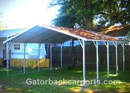 Garage With Carport Gatorback Carports U2013 Montgomery Alabama Metal Carports Al Garages Rv