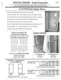 Shower Door Width Shower Door Prices Hourglass Kitchen Bath Products