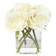 Vase With Roses Artificial Rose Arrangements Foter