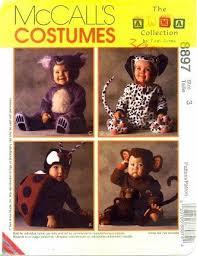 Tom Arma Halloween Costume Mccall U0027s 8897 Sewing Pattern Tom Arma Lady Bug Monkey Koala Bear