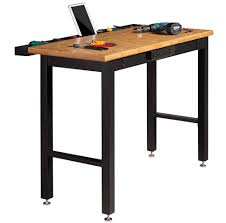 heavy duty workbench for garage workbenches wood bamboo worktop