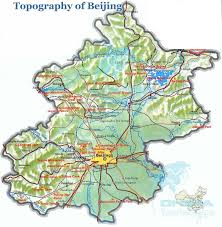 Great Wall Of China On Map by Map Of Beijing China Beijing Tourist Maps
