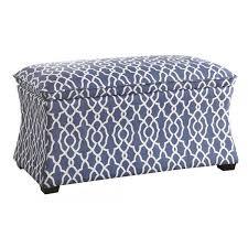 blue storage ottoman home furnishings