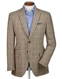 lexus jacket uk slim fit beige check luxury border tweed jacket charles tyrwhitt