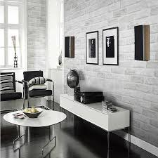 Black And White Wall Decor by 3d Brick Pattern Wallpaper Roll White Grey Textured Wallpaper Home