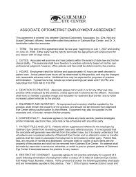 Termination Of Employment Without Notice by Associate Optometrist Employment Agreement