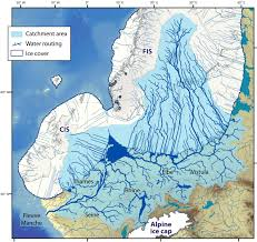 Map Of European Rivers by Of The European Ice Sheet Caused Chaos