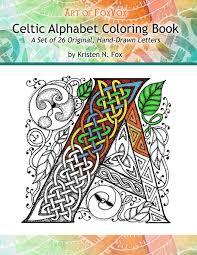 amazon com celtic alphabet coloring book a set of 26 original
