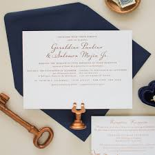 bilingual wedding invitations harmonious copper foil st wedding invitations banter and charm