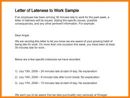 Explanation Letter Due To Negligence explanation letter for being absent at work sle pics late
