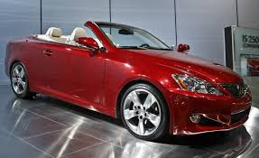 red lexus is 250 2006 2009 lexus is convertible is250c is350c auto shows news