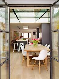 Ceiling Height Cabinets Replica Eames Chair Dining Room Contemporary With Glass Ceiling