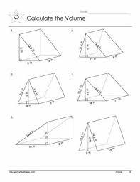 triangular prism volume worksheets
