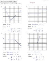 domain and range worksheets algebra 1 free worksheets library