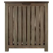wood tilt out laundry hamper cael teak laundry hamper rustic brown bathroom