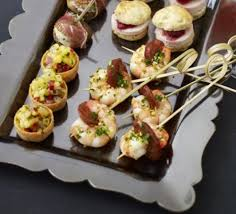 canapes with prawns prawn chorizo skewers with gremolata recipe food