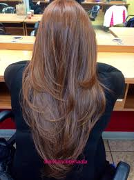 pictures of v shaped hairstyles long hair with layers back view haircuts gallery pinterest