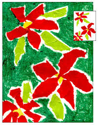 poinsettia art tissue paper poinsettia and organic shapes