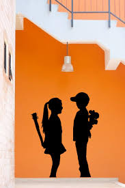 banksy boy meets girl x large wall sticker decal for banksy boy meets girl x large wall sticker decal for