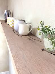 Kitchen Floating Shelves by Floating Wood Shelves Long Kitchen Floating Shelf Rustic Modern