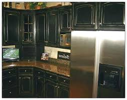 Diy Black Kitchen Cabinets Black Distressed Kitchen Cabinets For Rustic Black Kitchen Cabinet