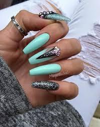 best 25 mint gel nails ideas on pinterest summer gel nails