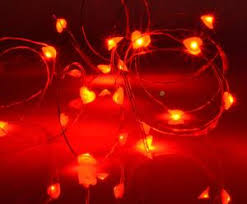 heart shaped christmas lights 20 red love heart shaped led fairy lights battery operated