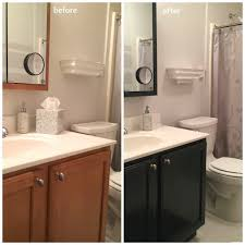 an afternoon i updated the color of my mom u0027s bathroom vanity