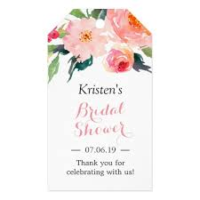 bridal shower favor tags modern watercolor floral decor bridal shower favor gift tags