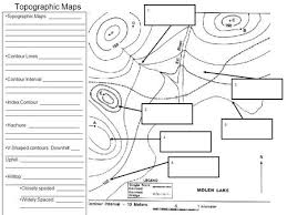 topographic map worksheet topographic map making fts e info